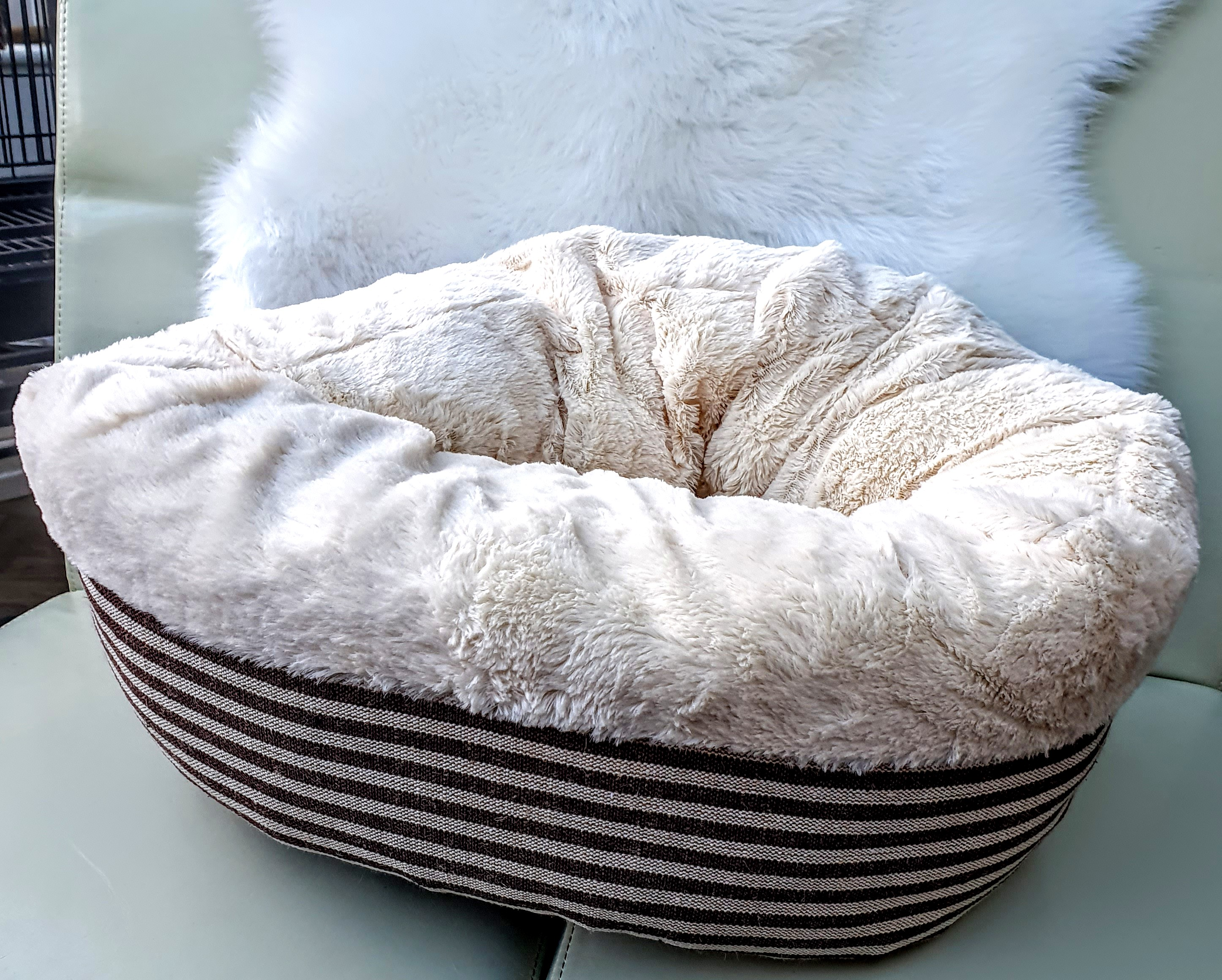 ***SOLD OUT*** Super Soft Brown Striped Donut Bed