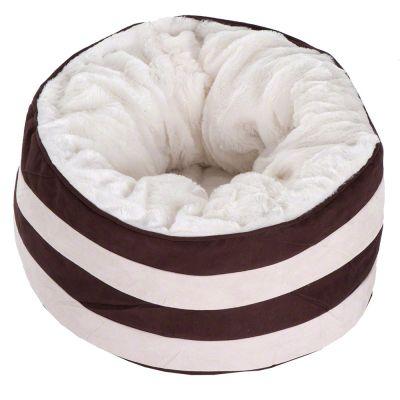 Snuggle Bed - Cream / Dark Brown