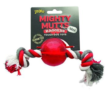 *OUT OF STOCK *Mighty Mutts Rubber Mini Ball Ragger